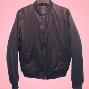 American Eagle Black Bomber Jacket